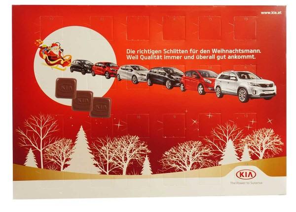 Advent calendar with custom chocolate