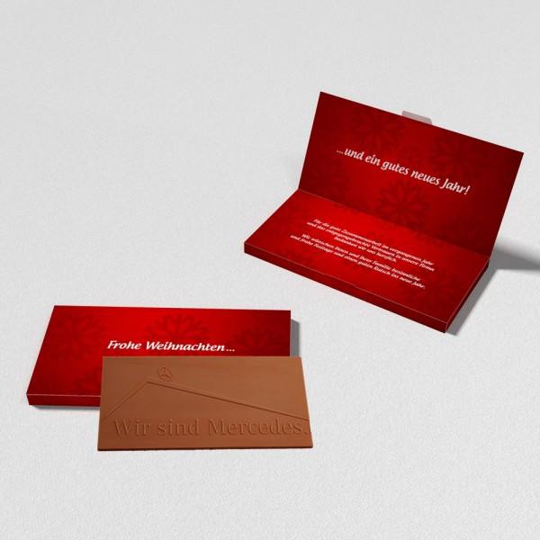 Grüßkarte für Schokolade
